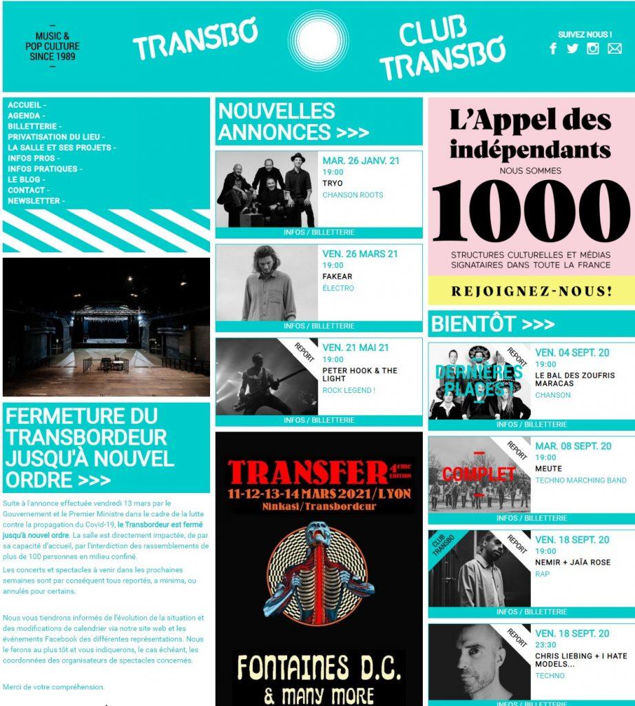 Salles de musiques actuelles. Le site du Transbordeur de Villeurbanne