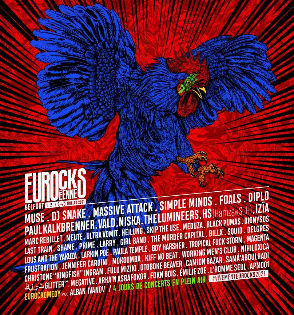 Affiche Eurockéennes 2021