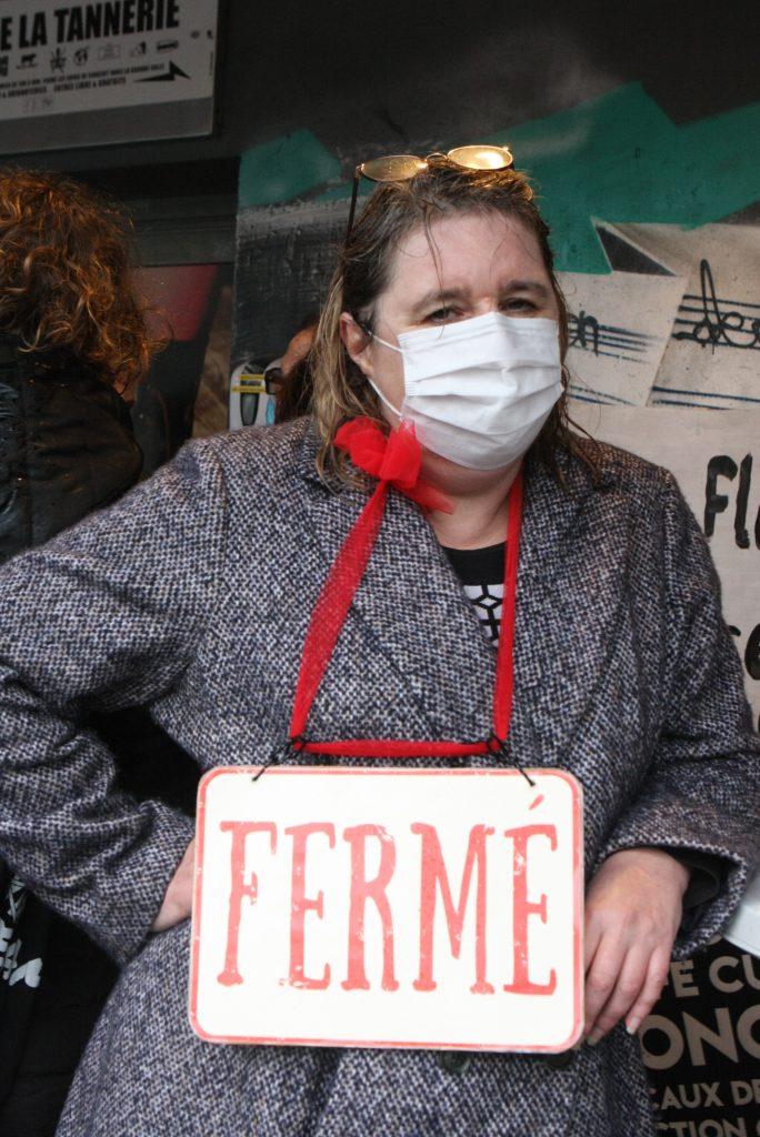 La Tannerie occupée. Christine Larivière.