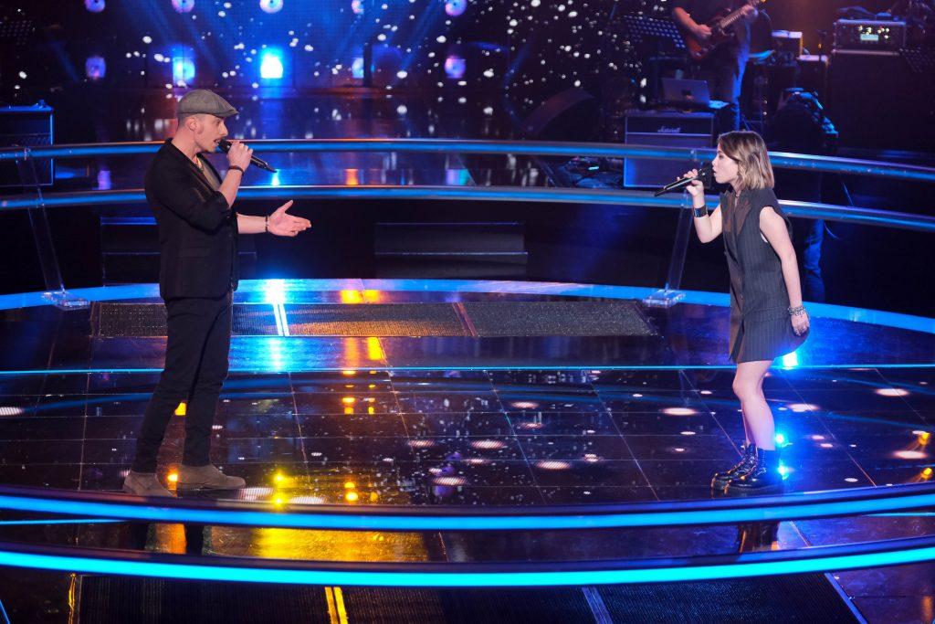 Nico Sarro à The Voice. En battle avec Aimée