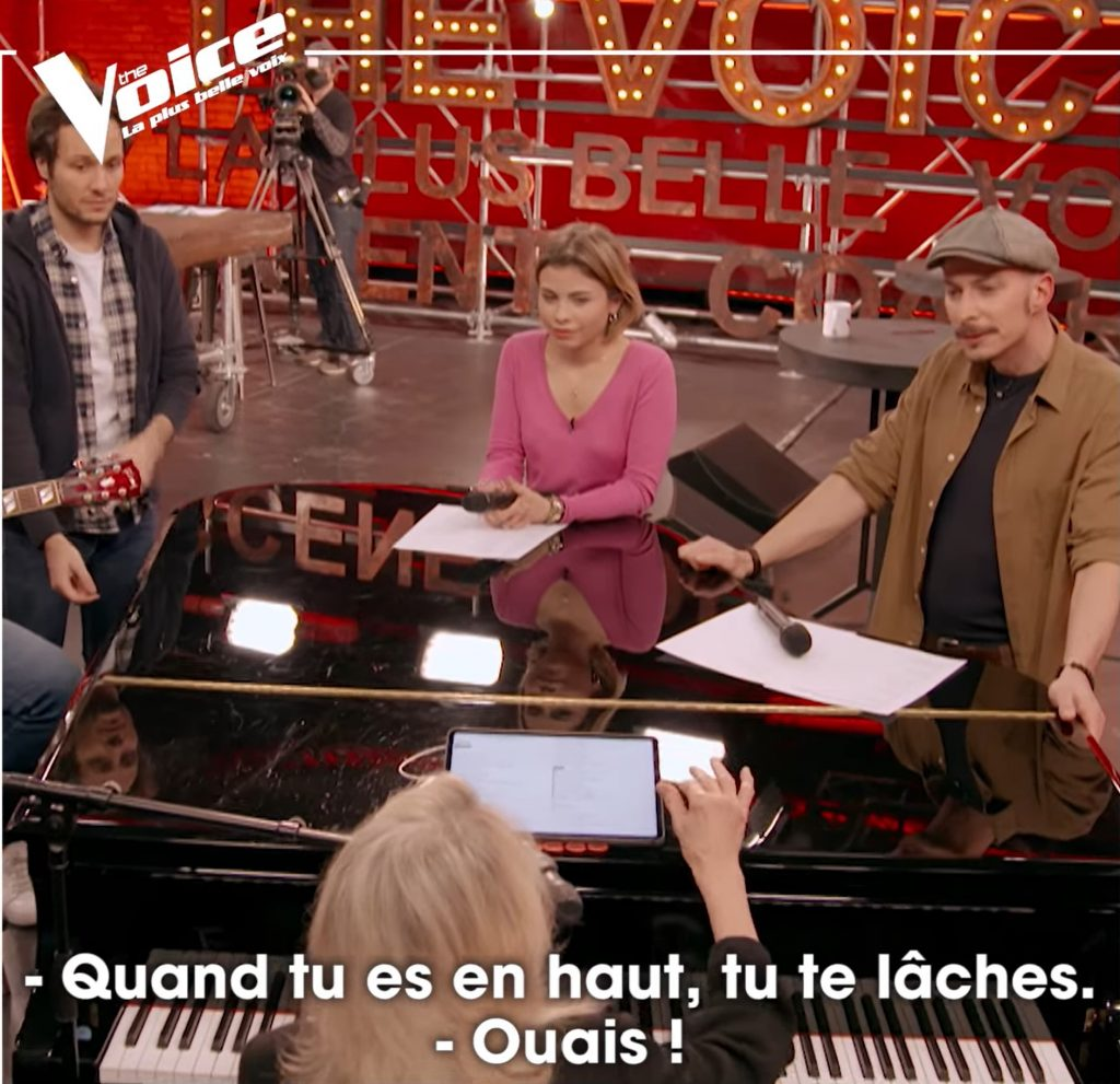 Nico Sarro aux Battles de The Voice avec Véronique Sanson